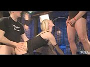 blonde babe gives blowjobs and gets peeing on.