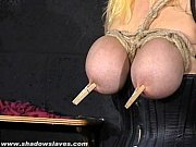 Busty blonde Cherrys breast bondage and a ...