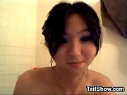 sweet asian slut in the bathroom