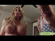 Lucky dude fucks MILF Farrah Dahl and stepmum Janet Mason