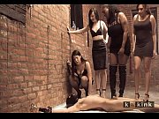 Four femdom mistress pissing on one poor male slave