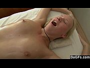 Young Blondes First Massage