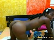 black cam girl masturbates