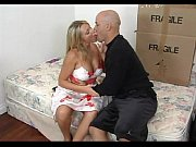 amazing blonde mature seducing her son's.