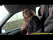 hitchhiking european blonde fucked closeup