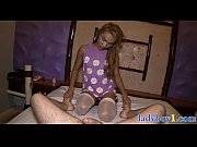 Ladyboy chick gives a foot massage before being anal fucked