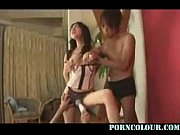 japanese doll double blowjobs and get fucked in threesome