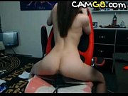 sexy tight girl rides dildo on cam - camg8