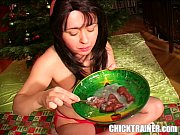 Cum eating Porn Xmas 2005: 4 Loads of jizz with as spoon gokkun style