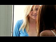 Hot best friends Sara and Chloe goes wild lesbian sex