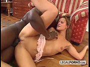 Interracial couple enjoying hard sex