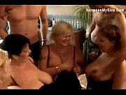 Chubby matures are in an orgy scene