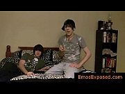 two cute young emos having gay sex on.
