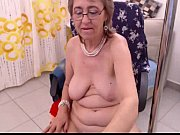 Granny fills both holes with toys