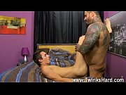 Gay XXX Alexsander starts by forcing Jacobey&#039_s head down on his dick,
