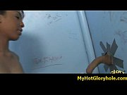 Black girl initiated in the art of gloryhole blowjob 8
