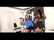 sexy hot moms workout fitness at gym with.
