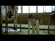 Asian woman pretending to be a cow milked ...