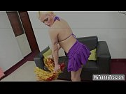 naughty blonde shemale mia rivers anal fucked on sofa