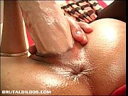 Ella&#039_s tight pussy lips grip onto a giant brutal dildo