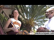 Cheerleader picked up by big black dude