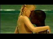 young blonde white girl with black lover on.