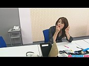 Hojo toying her pussy during an office me ...