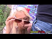 Hippie girl fucking outdoor and sucking cock