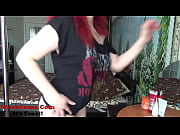 redhead girl stripping and dancing