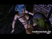 tied up 3d elf babe gets fucked hard.