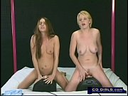 Wet orgasm with two girls on two sybians