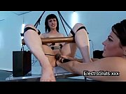 Picture Bound in swing babe wired strapon cock fucke