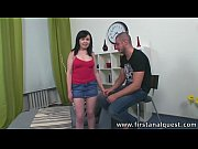 FirstAnalQuest.com - BIG BOOTY SEX WITH A CUTE BRUNETTE TEEN THAT LOVES IT