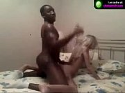 Blonde chick finds some African lover on cam