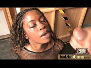 Dirty Ebony Whore Banged And Covered In Cum - Interracial 6