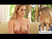 blonde milf cherie draws girl jessa to a.