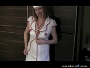 british woman wearing a nurse costume