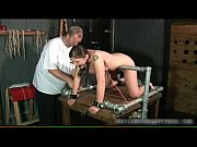 kinky brunette slut is bound and.