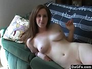 Horny slut haves fun on a couch and sucks ...