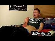 beautiful redhead emo twink sits at home and.