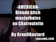Blonde bitch shows tits amp pussy on cam  by GranDBastard - www.188Cams.com