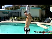 White long gay sex pix Zack &amp_ Mike - Jackin by the Pool