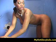 Black babe sucking white cock for some warm cum 31
