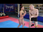 AngelRivas beating loser through the gym in boxing gloves, mxd Video Screenshot Preview