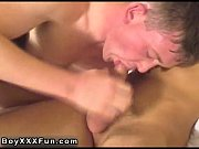 Sexy gay Bobby and Mason take turns deep-throating cock! Mason bends