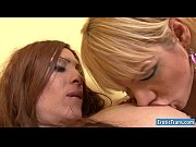 Superb shemales Carla and Mia Monroe sucking and drilling