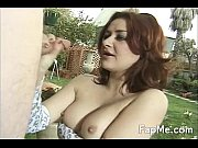 sexy redhead swallows and sucks a.