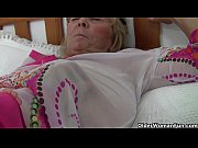 Picture Grandma with big tits masturbates and gets f...