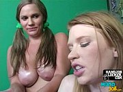 two girls enjoy paying with hard.