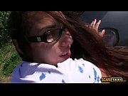 cute jenny gets hopped in car and banged.